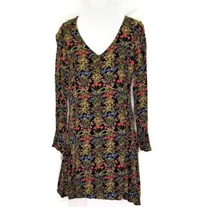Old Navy black and floral dress 8 NWOT